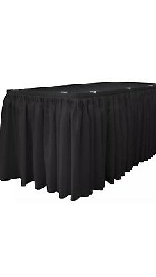 La Linen Oversized Burlap Table Skirt 30 Ft X 29