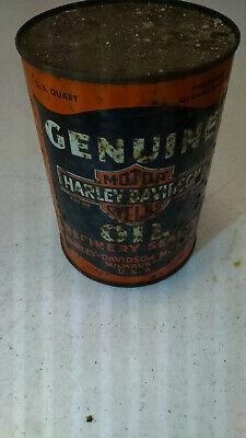 Antique 'Genuine Harley Davidson Oil' 1 quart