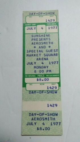 1977 AEROSMITH  Concert Ticket JULY 4  Market Square Arena Indianapolis UNUSED