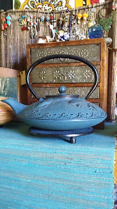 Cast iron Japanese teapot with trivet Wentworth Falls Blue Mountains Preview