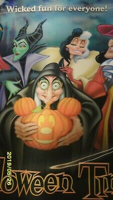 DISNEYLAND -  HALLOWEEN TIME HOLGRAPHIC POSTER - WICKED FUN FOR EVERYONE