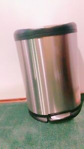 Trash can, stainless steel