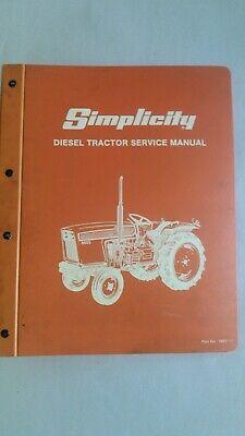Simplicity 9523-9528 Allis-chalmers 5020-5030 Service Manual