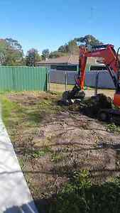 Excavator Bobcat Tipper Hire Excavation concrete removal posthole Glendale Lake Macquarie Area Preview