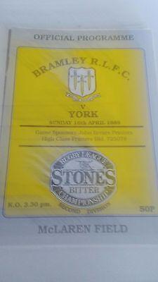 16.4.89 Bramley v York programme