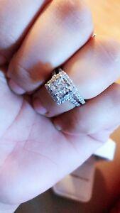14kt gold , 1.50kt diamond weeding set