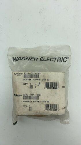 """Warner 5319-631-002 Model PB-250 6 V DC Flange Mount Brake 3/8"""" Bore  20B"""