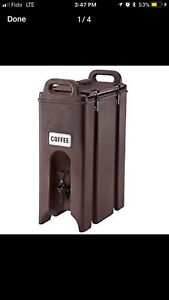 Catering Coffee Urn / Cambro Camtainer $240