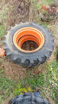Allis Chalmers B C Tractor 12.4 X 24 Traction King Armstrong Tire Tires Rims