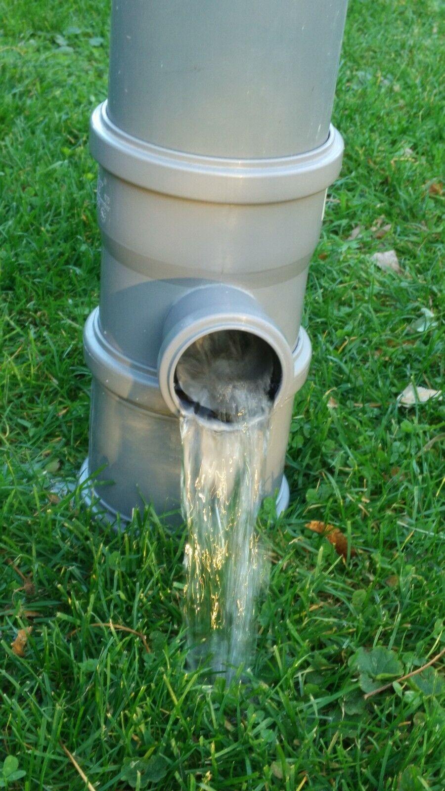 Regendieb Regensammler Regenwassersammler Fallrohr Füllautomat