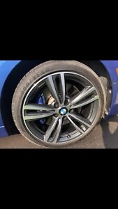 Bmw rims and tires 340i