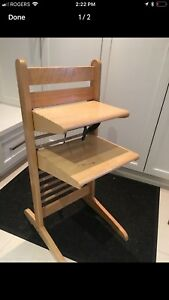 Designer Arginton high chair.