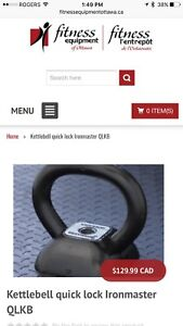 Ironmaster Kettlebell and fat grips