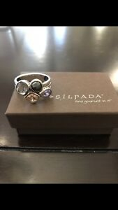 Silpada R2206 Rose Sterling Silver Ring Size 9