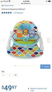 Fisher price sit me up floor seat with toy tray.