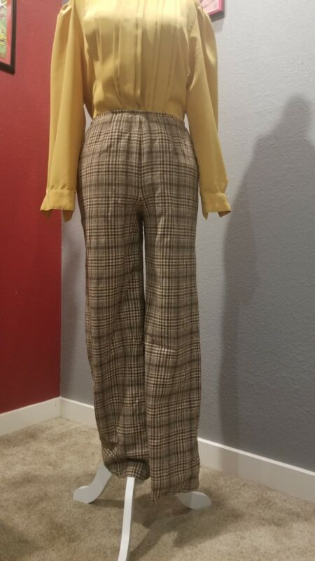 Vintage 70s Pendleton Plaid Wool Pants