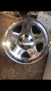 "Jeep 15"" chrome rims"