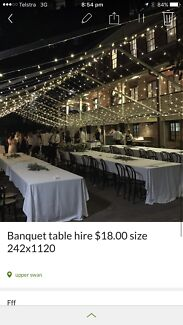 Banquet table hire $18.00 plus delivery