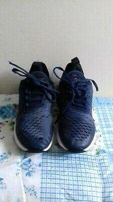 Nike Air Max 270 Blue Knit Running  Boys Trainers Size UK 3 EU 35.5