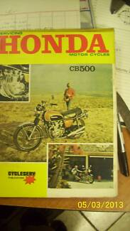 Honda cb500 motorcycle  manual