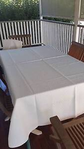 Cream tablecloth for 6 seater dining table Albion Brisbane North East Preview