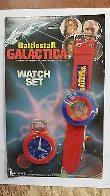 BATTLESTAR GALACTICA TV SHOW TOY WATCH SET MOC 1978
