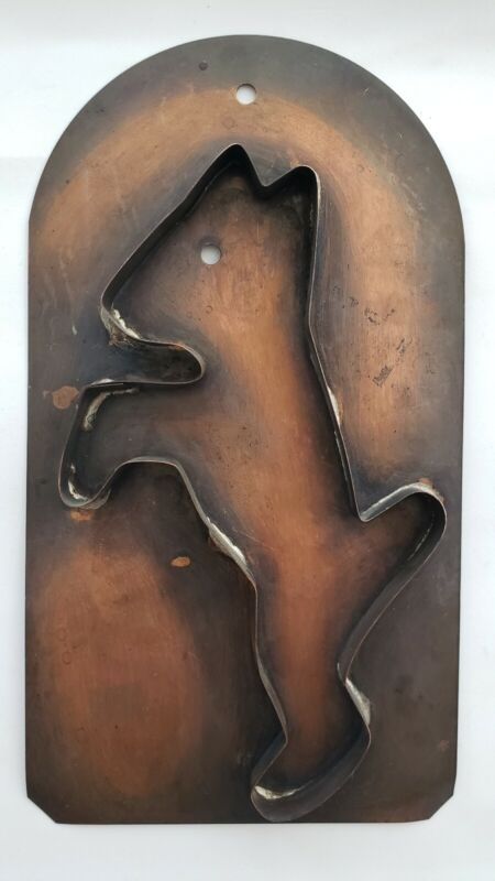 Copper Pfaltzgraff Scotty Dog Mold Cookie Cutter Wall Hanging