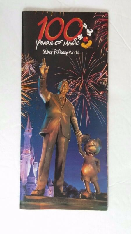 Disney Walt Disney World 100 Years of Magic Planning Brochure Souvenir Booklet
