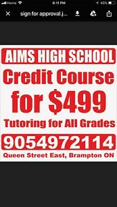 Credit courses and Tutoring (20 days)