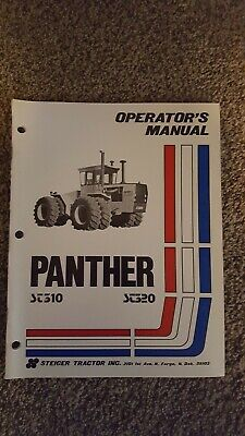 Steiger Tractor Operators Manual Panther