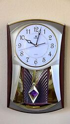 Home Melodies In Motion Pendulum Wall Clock-6121 Gold (13 Sold Previously)