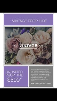 Vintage wedding/engagement party hire/styling Drummoyne Canada Bay Area Preview