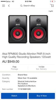 Akai Rpm 800 studio monitors