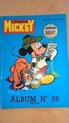 ALBUM LE JOURNAL DE MICKEY N° 58 magazine 1087  à 1102   bon état à très bon