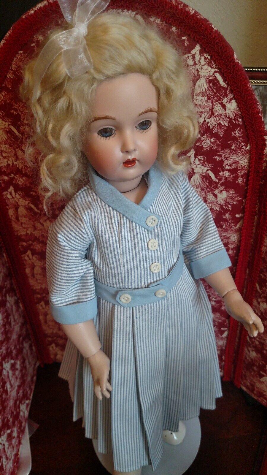 "Купить Daisy Elmira Dress For 18"" Doll.  Chambray Stripe Dress Copy Of Original"