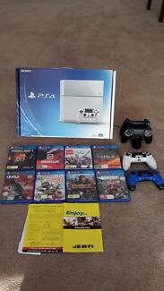 PS4 + 4 dual shock4 controllers + wireless charging dock + 8games Aubin Grove Cockburn Area Preview