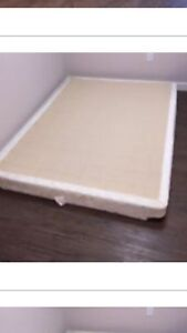 DOUBLE SIZE SEALY BOX SPRINT AND BED FRAME- excellent shape!