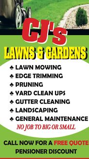 LAWN MOWING AND GARDENING