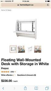 Floating black wall desk !!!