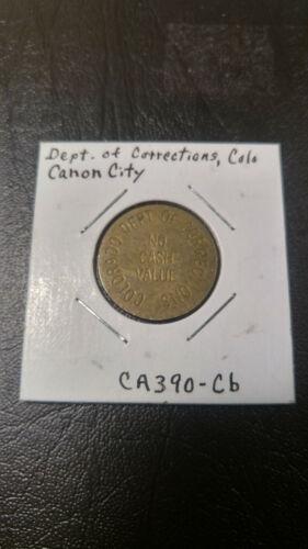 Canon City Colorado Dept. of Corrections Coke Trade Token Brass 23mm