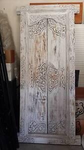 STUNNING BALINESE CARVED WOODEN DOOR, BRAND NEW! Greenslopes Brisbane South West Preview