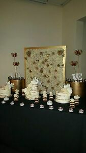 Gold cake stands Bossley Park Fairfield Area Preview