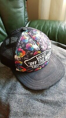 Vans cap Black With Roses