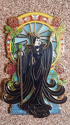 Disney Maleficent Stained Glass Art Nouveau Jumbo Fantasy Pin LE 50