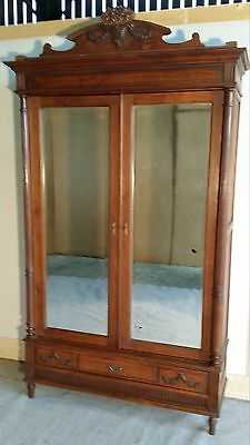 ATTRACTIVE FRENCH OAK ARMOIRE / WARDROBE