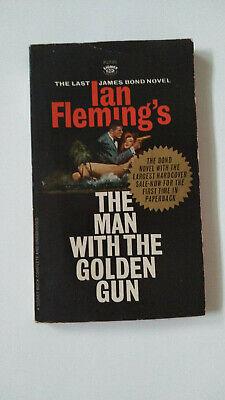 JAMES BOND Man With The Golden Gun Ian Fleming Paperback Book 1st First Printing