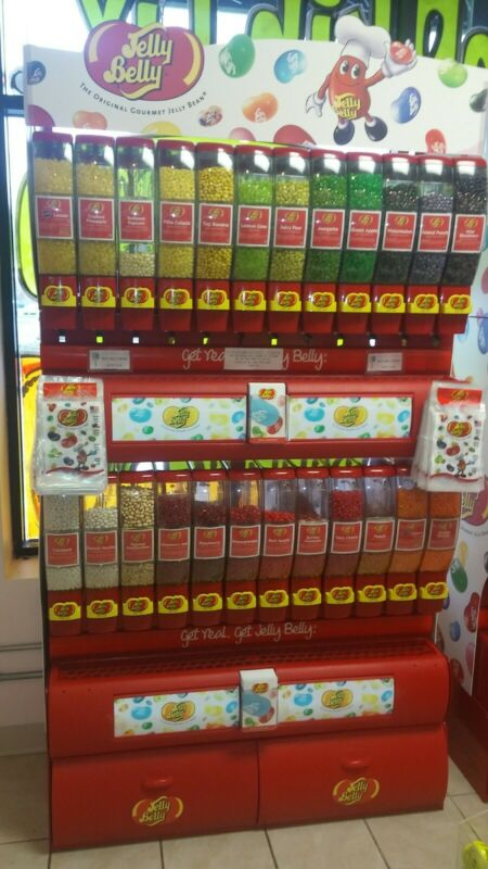 Jelly Belly Jelly Bean Display Case Dispenser Free Standing Bulk Display
