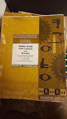 Hough International Pay Loader Model H-400 Parts Catalog