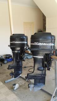2x50 hp mercury blue band outboard motors Edens Landing Logan Area Preview