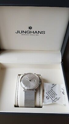 Junghans Max Bill Silver Quartz Watch. New In Box Comes With Gift Receipt.